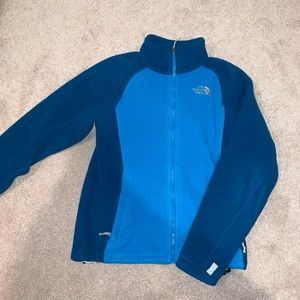 Blue Two Toned Northface Zip Up Fleece